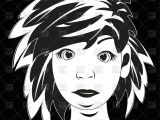 Drawing Of Girl In Black and White Black White Drawing Girl Vector Illustration Of People A C Cobol1964