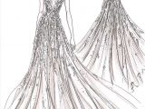 Drawing Of Girl In Gown 439 Best Wedding Gown Sketches Images Fashion Illustrations