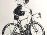 Drawing Of Girl On Bike 66 Best Cycling Images In 2019 Bicycle Art Bike Art Road Racer Bike