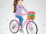 Drawing Of Girl On Bike Girl Riding On Pink Bicycle Cycle Shahi Swari Pinterest