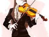 Drawing Of Girl Playing Violin Violin Anime Girls