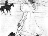 Drawing Of Girl Walking by toulouse Lautrec Girl Walking with Her Dog Barnen Henri De