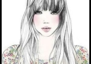 Drawing Of Girl with Bangs Draw Girl Art Illustrations Pinterest Drawings