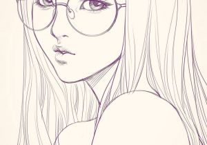 Drawing Of Girl with Bangs Last Sketch Of Girl with Glasses Having Bad Backache It Hurts