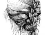 Drawing Of Girl with Braids 115 Best Drawing Hair Images Drawing Techniques Pencil Drawings