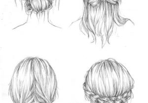 Drawing Of Girl with Bun Back View Of A Person Drawing Drawing Art Hair Girl People Female