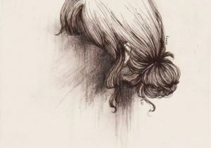Drawing Of Girl with Bun Hide Your Face From the World they Can T Judge You if the Can T