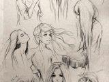 Drawing Of Girl with Long Hair Fantasy Girl Hair Art Drawing