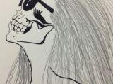 Drawing Of Girl with Long Hair My Skull Girl Drawing Girl Drawings Drawings Und Skull