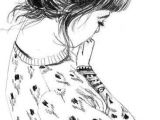 Drawing Of Girl with Messy Bun Pin by H A N N A H B On A R T Drawings Sketches Illustration