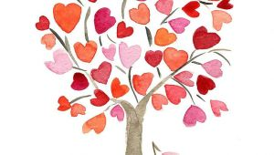 Drawing Of Heart Tree Heartful Tree Kid Activities Heart Art Art Tree Art
