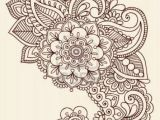Drawing Of Henna Flower Henna Paisley Flowers Mehndi Tattoo Doodles Design Abstract Floral