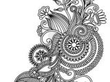 Drawing Of Henna Flower original Hand Draw Line Art ornate Flower Design Ukrainian