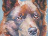 Drawing Of Kelpie Dog Australian Kelpie Dog Portrait Art Canvas Print Of Lashepard