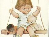 Drawing Of Little Girl On Swing 745 Best Quaint Qute Images Dressmaker Infant Pictures Needlepoint