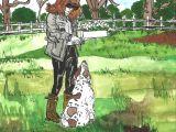 Drawing Of Man Walking A Dog Glamorous Granny Walking the Dog I People Pinterest Dog