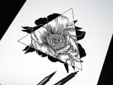 Drawing Of Rose and Lotus Art Drawing Flowers Hipster Sketch Triangle Amazing