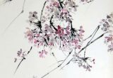 Drawing Of Sakura Flower Cherry Blossom 4 original Japanese Ink Painting Large Painting On