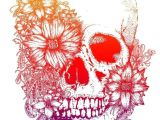 Drawing Of Skull Flowers Rainbow Flowers Skull Tattoo Design Skull Tattoo Color Popular