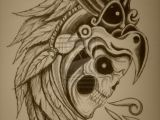 Drawing Of Skull Tattoo Displaying 19 Images for Aztec Eagle Warrior Skull Tattoo
