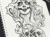 Drawing Of Skull Tattoo Muertos Skull Tattoo Design Ravens Grunge Roses Boho Fantasy Gothic
