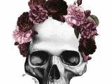 Drawing Of Skull with Flowers Purple Flower Crown Skull Sugar Skulls Pinterest Flower Crowns