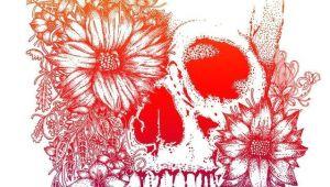 Drawing Of Skull with Flowers Rainbow Flowers Skull Tattoo Design Tattoo Pinterest Tattoos