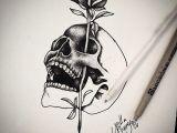 Drawing Of Skulls and Roses Skull Rose Tats Tattoo Drawings Tattoos Tattoo Sketches