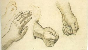 Drawing Of Three Hands Vincent Van Gogh Three Hands Nuenen December May 1884 85