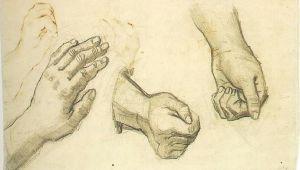 Drawing Of Three Hands Vincent Van Gogh Three Hands Nuenen December May 1884 85