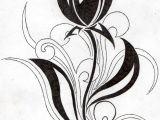 Drawing Of Tulip Flowers Flower Tribal Tulip by Aglinskas Srdce Tulip Tattoo Tattoos