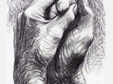 Drawing Of Two Hands together Cave to Canvas Alecshao Henry Moore the Artist S Hands 1974 Two