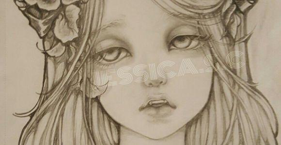Drawing Of Vampire Girl Pencil Drawingoftheday Beautiful Vampire Girl Dramatic Eyes