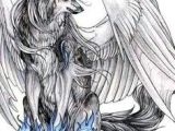 Drawing Of Wolves with Wings Wolves with Wings