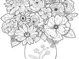 Drawing Picture Of Flower Vase A Bouquet Of Flowers New Vases Flower Vase Coloring Page Pages