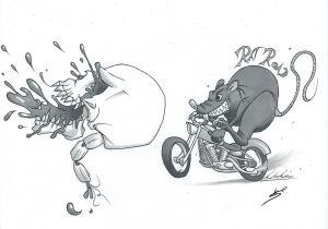 Drawing Rat Skull Tattoo Bloody Skull Rat Road by Roadkingin66 On Deviantart Rat