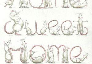 Drawing Rat Skull Your Name In Rats Custom original Artwork Rat Drawing In