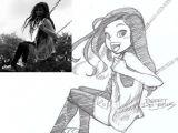 Drawing Realistic Cartoons People and their Cartoon Versions Chibi Drawings Drawings