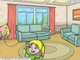 Drawing Room Cartoon Images A Delighted Girl Flying Her Pretty Kite and A Small Living Room