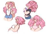 Drawing Rose Quartz I Love Rose S Endless Curls Steven Universe Pinterest Steven
