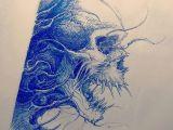 Drawing Scary Skulls Skull Sketch Tattoosketch by Nekronikon Skull Sketches