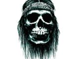 Drawing Skull and Crossbones 5pcs Halloween 3d Cartoon Skull Terror Tattoo Sticker Crossbones