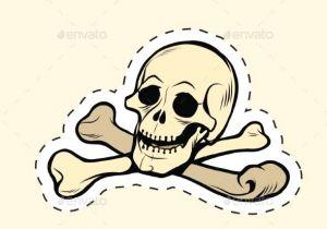 Drawing Skull and Crossbones Skull and Bones Jolly Roger Label Sticker Skulls Label Stickers