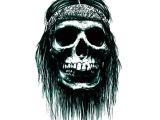 Drawing Skull Crossbones 5pcs Halloween 3d Cartoon Skull Terror Tattoo Sticker Crossbones