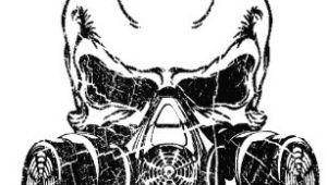 Drawing Skull Gas Mask Gas Mask Hats Caps Zazzle