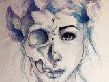 Drawing Skull On Face Past Sucks Beauty Drawings Art Art Drawings