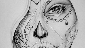 Drawing Skull On Face Real Techniques Brushes Samantha Chapman In 2019 Ink Drawings