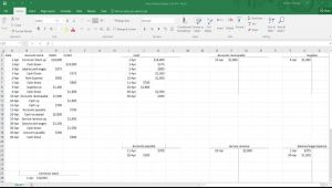 Drawing T Accounts In Word How to Make General Ledger Accounts In Excel T Accounts Youtube