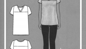 Drawing T Shirt Pattern Juniper Jersey Sewing Clothes Pinterest Sewing Sewing