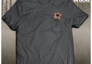 Drawing Things Shirt Stranger Things Inspired Shirt Pocket Demogorgon Hawkins